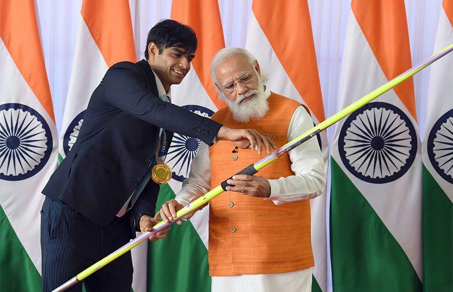 Neeraj Chopra with PM Narendra Modi